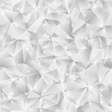 Geometric seamless pattern  from triangles. Light grey vector illustration. Background for banner, flyer, brochure, presentation, etc. Vector