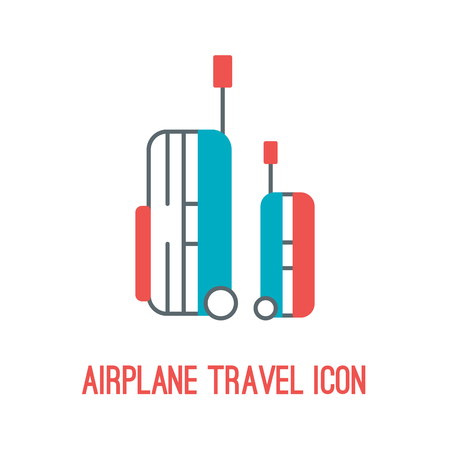 Vector illustration of airplane travel icon