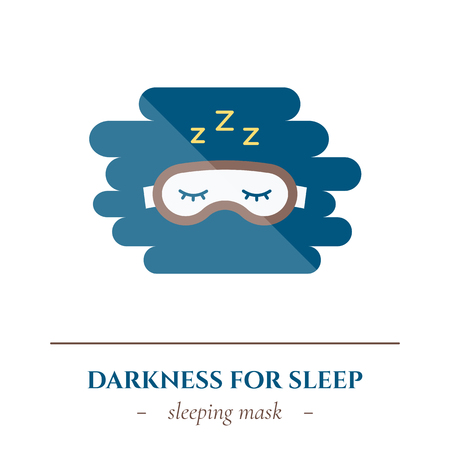 Vector flat sleep icon. Vector illustration.