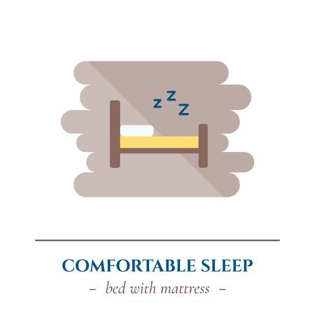 Icona di sonno piatto vettoriale. Illustrazione vettoriale. Archivio Fotografico - 83030769