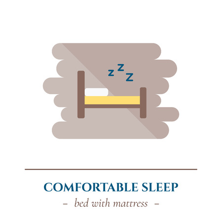 Vector flat sleep icon. Illustration vectorielle. Banque d'images - 83030769