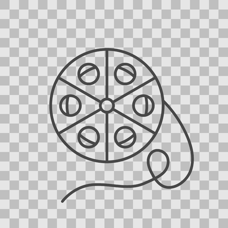dvd player: Isolated TV series thin lined outlined icon.