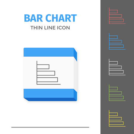 Simple line stroked chart or graph vector icon