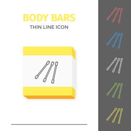 Simple line stroked handle body bars vector icon Illustration