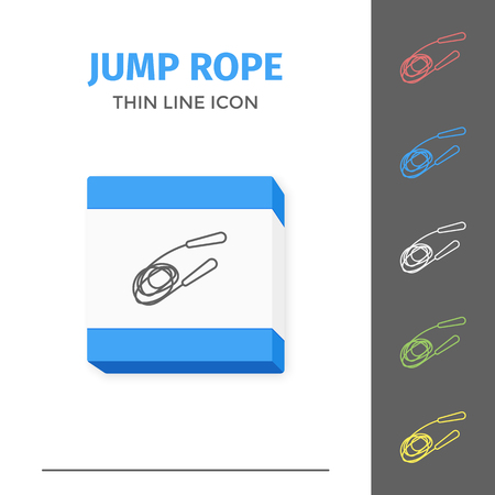Simple line stroked jump rope vector icon