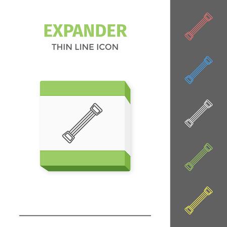Simple line stroked handle expander vector icon