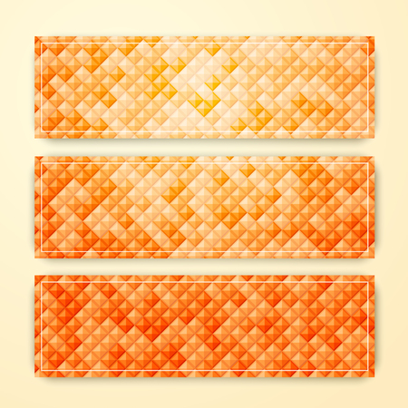 Set of vector abstract geometric banners, Vector illustration.