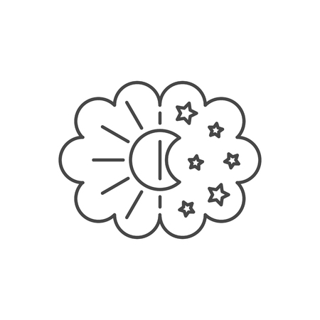 Vector thin line sleep icon. Illustration