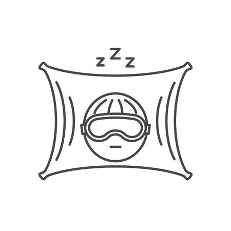 Vector thin line sleep icon. Çizim