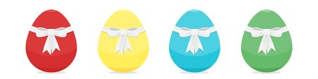 Vector set of isolated Easter colorful eggs