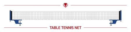 Illustration of table tennis net.  equipment. Vector element isolated on white background.