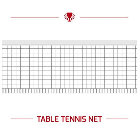 Illustration of table tennis net segment.  equipment. Vector element isolated on white background. Ilustrace