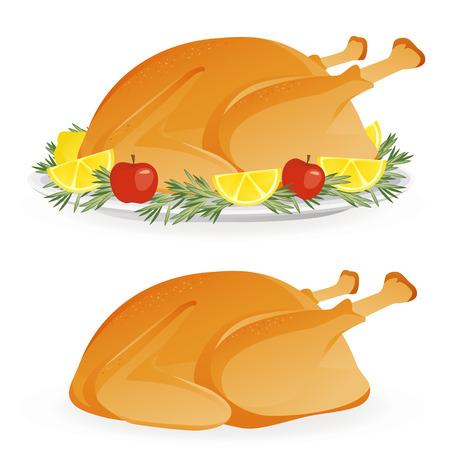 分離の大皿にローストした食欲をそそる休日トルコ