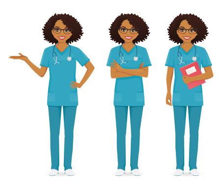 Team of nurses illustration.