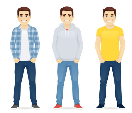 Man casual clothers Illustration