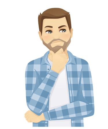 A man thinking vector. 写真素材 - 98105357