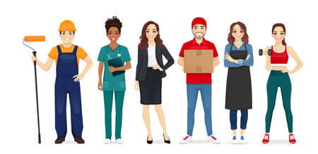 People different profession collection set vector illustration