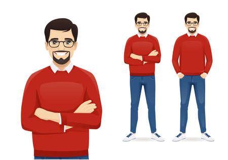 Man in casual clothes standing Vektoros illusztráció