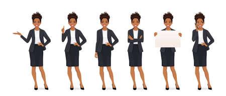Elegant african business woman