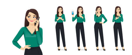 Elegant business woman with phone