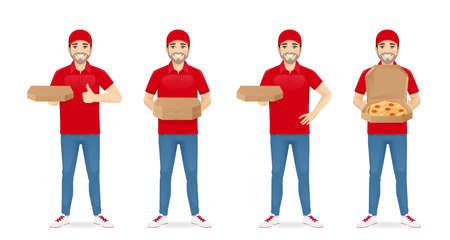 Delivery pizza man