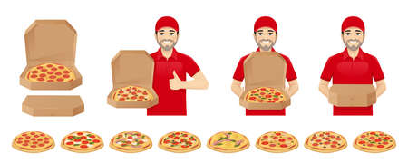 Pizza delivery man set