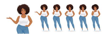 Young big black woman Ilustracja