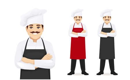 Handsome man chef in apron