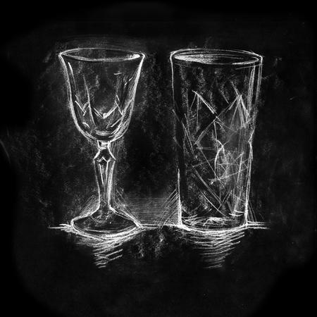 Glasses on white background Standard-Bild - 116495959