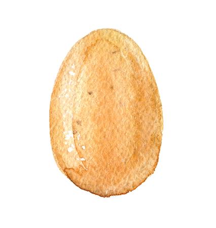 Egg isolated on white background, watercolor illustration Standard-Bild - 116495982