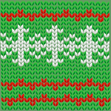 New Year s pattern for knitting Stock Vector - 17350881