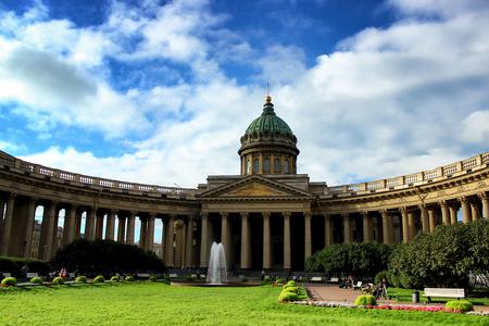 De Kazan close-up van de Kathedraalkerk, St. Petersburg Rusland