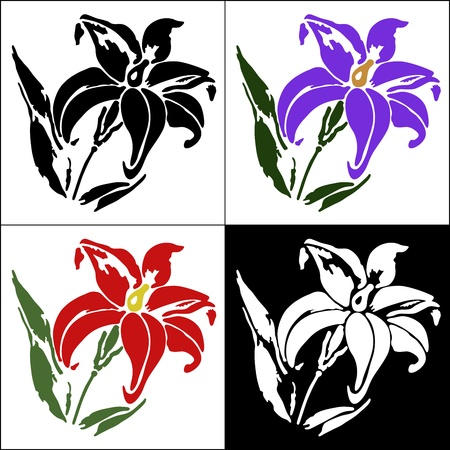 Set of flower design elements Vector