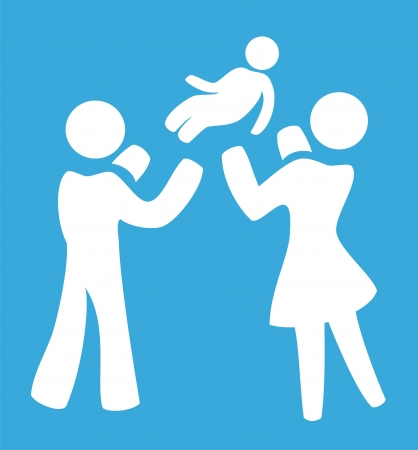 baby drawing: Happy family