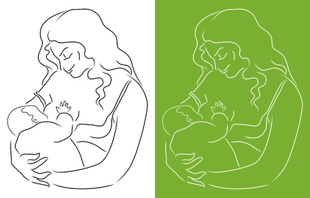 Mother and baby Stock Vector - 21635706