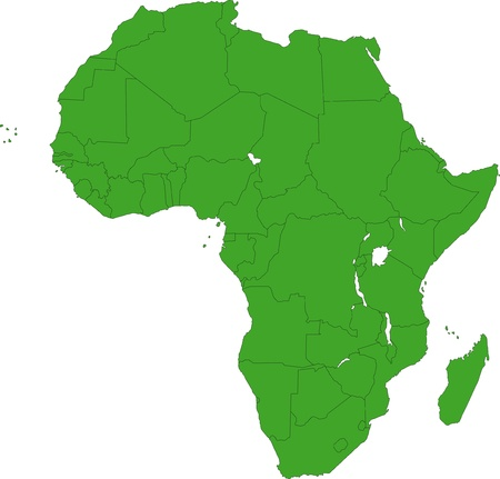 Africa map with countries Vector