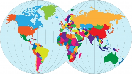 world map countries: Vector illustration map of the World Illustration