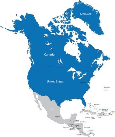 Members of NATO in North America Stock Vector - 21687930