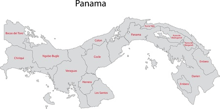 panamanian: Administrative divisions of Panama Illustration