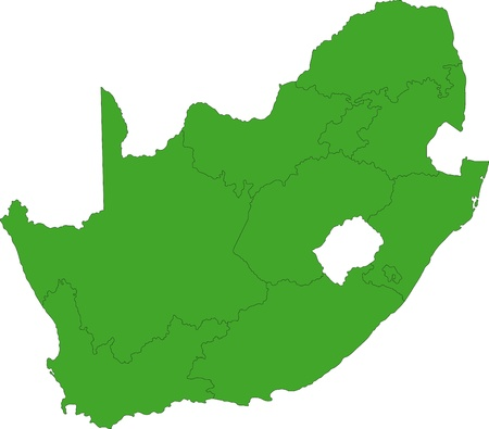 south africa map: South Africa map designed in illustration with the provinces