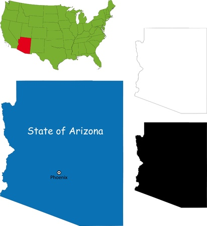 State of Arizona, USA Vector