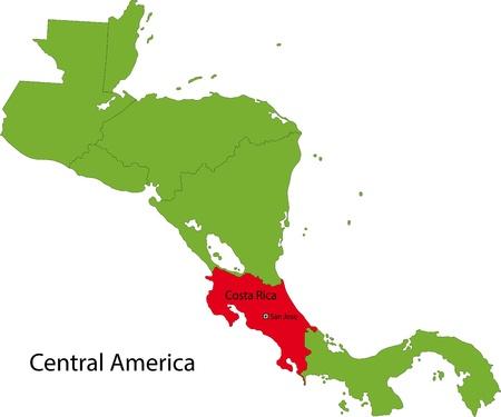 rican: Localizaci�n de El Salvador en Am�rica Central