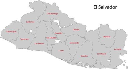 Location Of El Salvador On Central America Royalty Free Cliparts