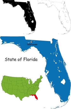 jacksonville: State of Florida, USA Illustration