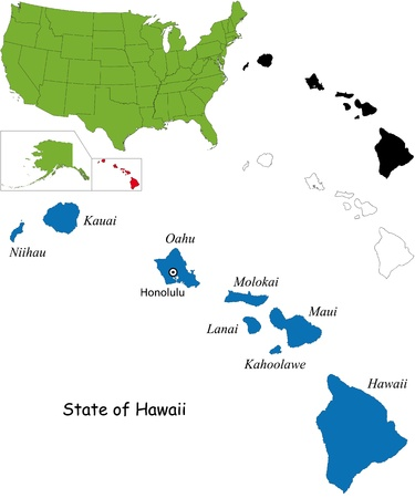State of Hawaii, USA Vector