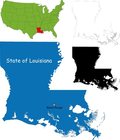 baton rouge: State of Louisiana, USA Illustration