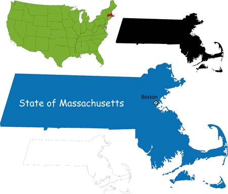 State of Massachusetts, USA Vector