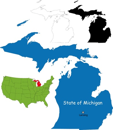 lake district: State of Michigan, USA