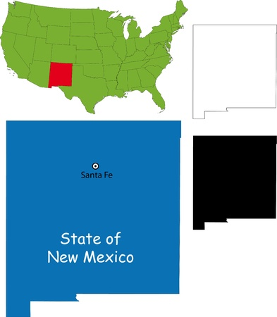 map mexico: State of New Mexico, USA