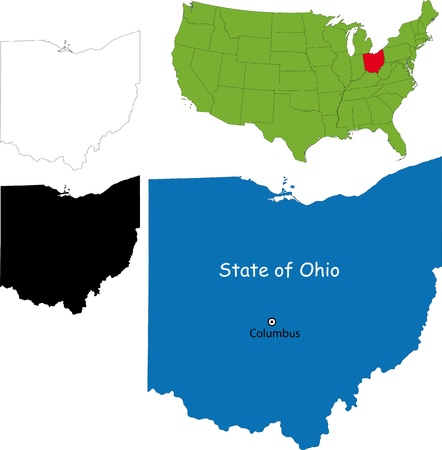 columbus: State of Ohio, USA Illustration